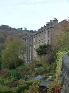 Classic Hebden Bdrige terraces with underdwellings and overdwellings