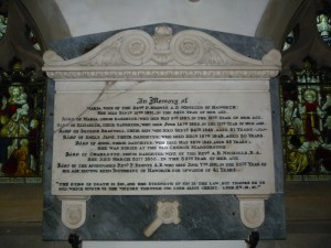 Memorial to the Brontes in the church
