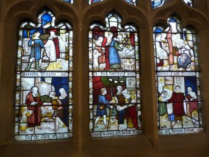 Memorial window to Charlotte Bronte