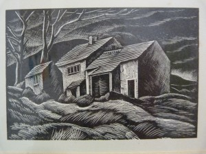 Wood engraving of Top Withens, throught to be the inspiration for Wuthering Heights