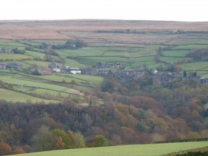 Pecket Well from across the valley at Slack Heptonstall